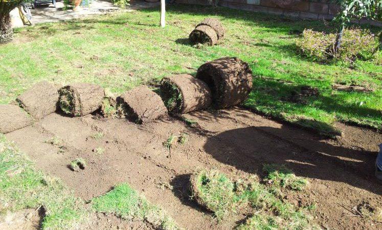 preparazione giardino per installazione prato sintetico Sassari