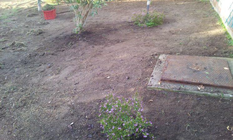 preparazione giardino per installazione prato sintetico professionale a Sassari