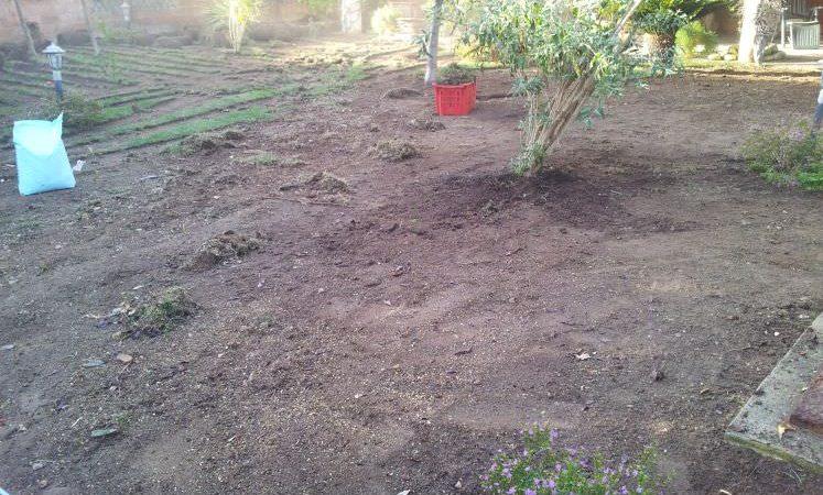preparazione giardino per installazione prato sintetico