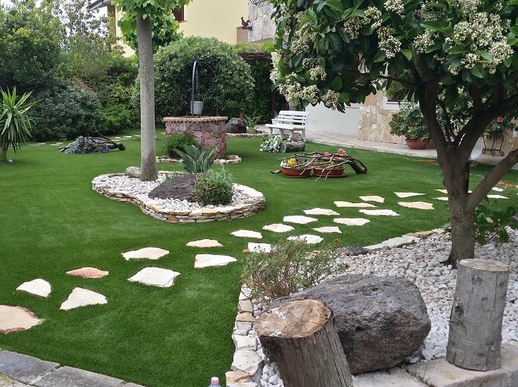 anteprima prato erba sintetica, giardino privato Sassari