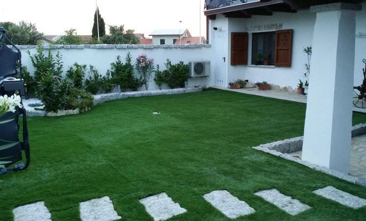 prato erba artificiale finito
