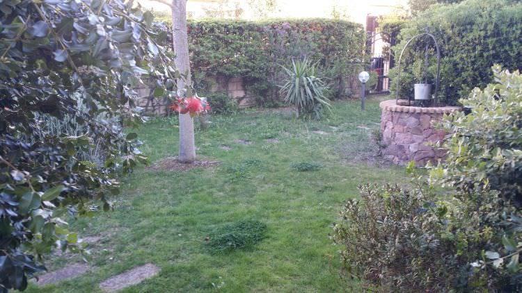 giardino privato a Sassari dove sarà posato il prato sintetico altra angolazione