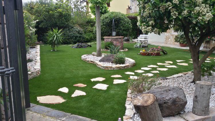 Realizzazione prati sintetici velvet 45 prati for Progetti di giardini