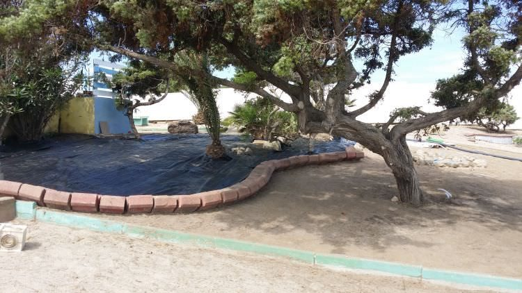 lavori prato sintetico al Cafè Set Beach Platamona, Sassari