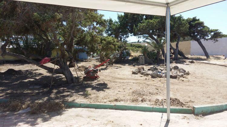 inizio dei lavori al Cafè Set Beach Platamona, Sassari